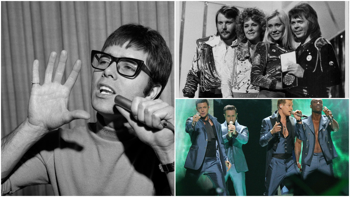 Cliff, ABBA and Blue have all been Eurovision losers (Getty Images)