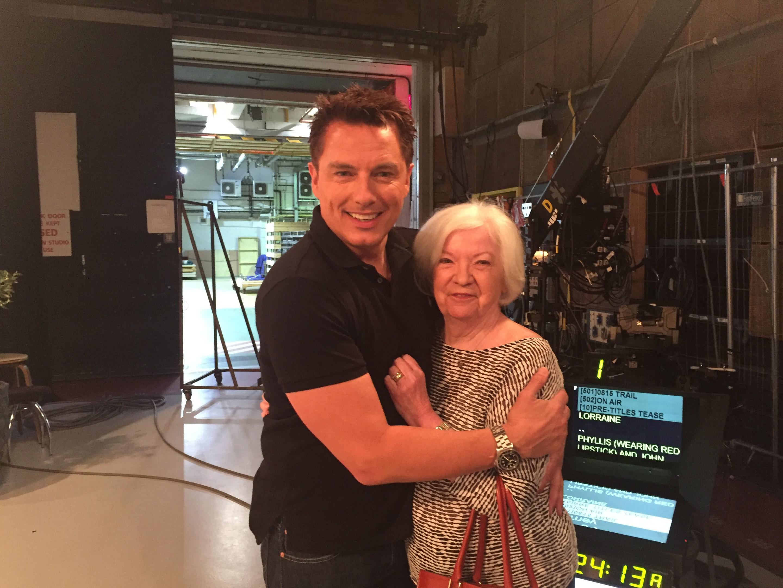 John Barrowman with Lorraine Kelly's mum