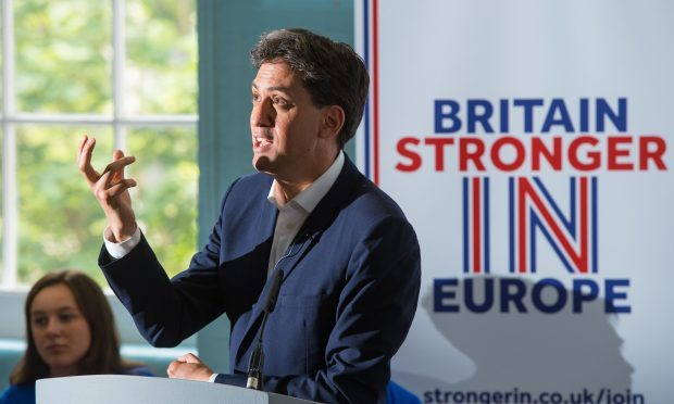 Former Labour Leader Ed Miliband hosts a question and answer session with young people to discuss the European Union referendum (Dominic Lipinski/ PA)