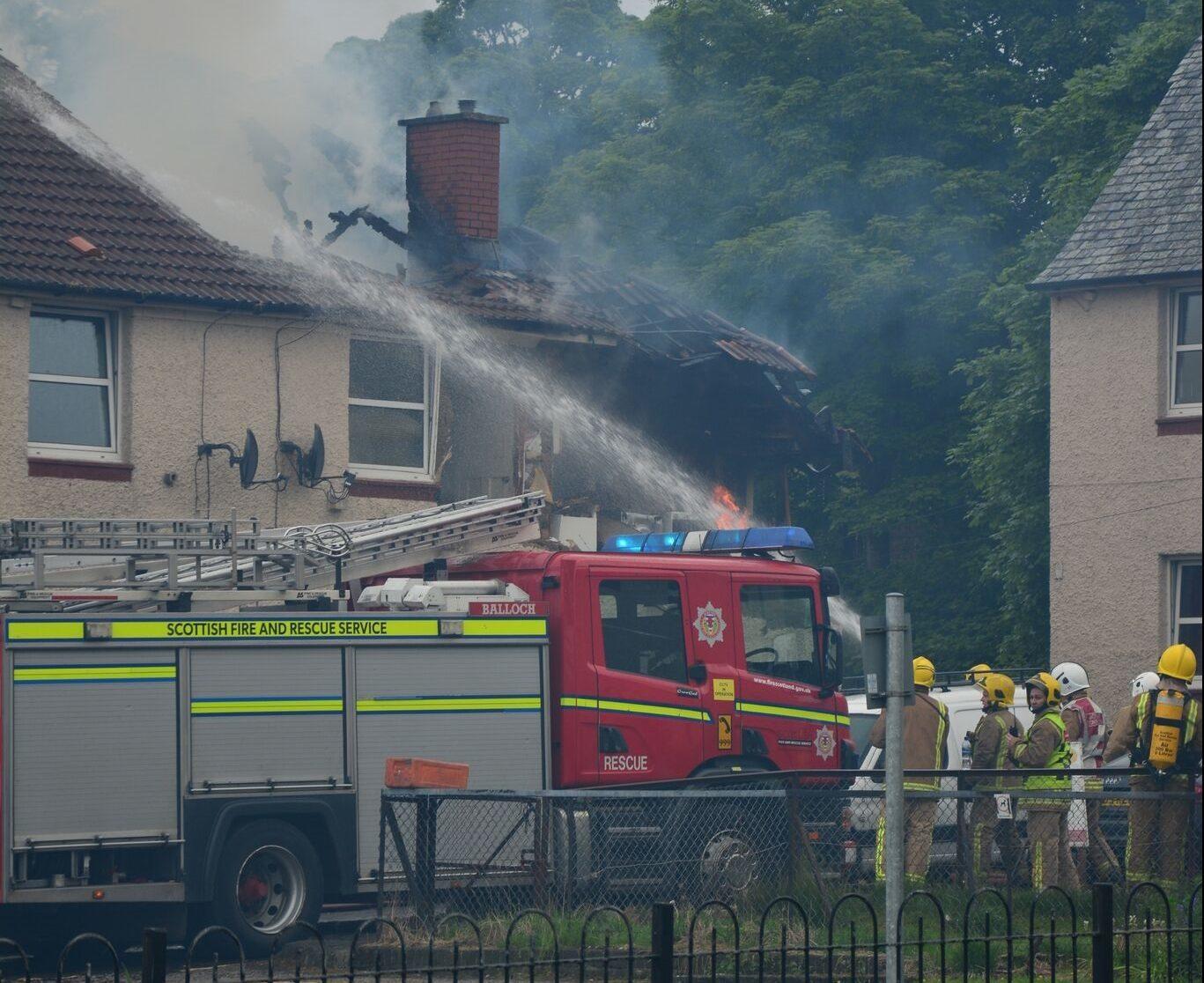 Fire in Bonhill, Dunbartonshire