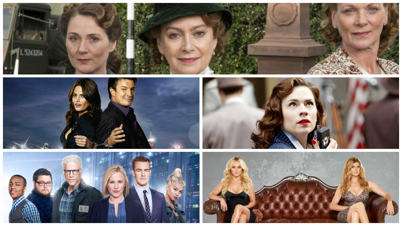 Home Fires (ITV), Castle, Agent Carter, Nashville (ABC), CSI Cyber (CBS)