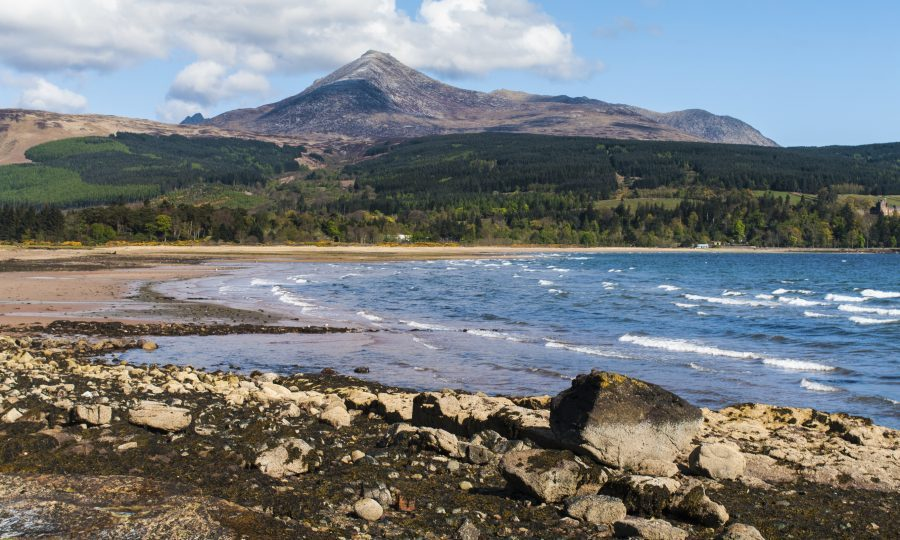Brodick Bay and Goatfell on the Isle of Arran, Scotland (S.R.Miller/Getty)