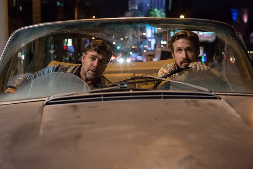 Gosling as Holland March and Crowe as Jackson Healy (PA Photo/Warner Bros.)