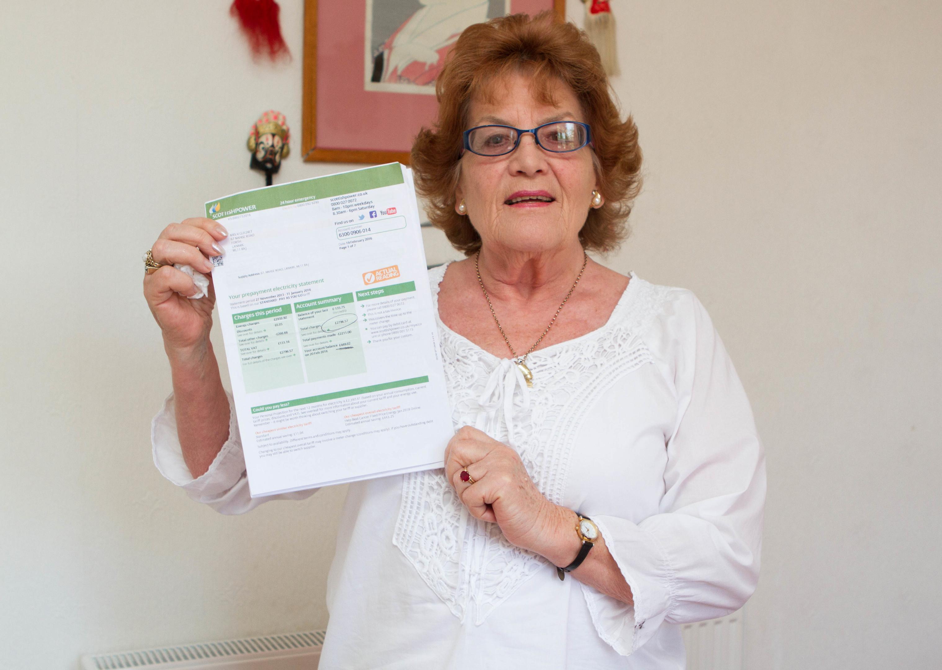 Violet Guignet had problems with her ScottishPower bill (Chris Austin / DC Thomson)