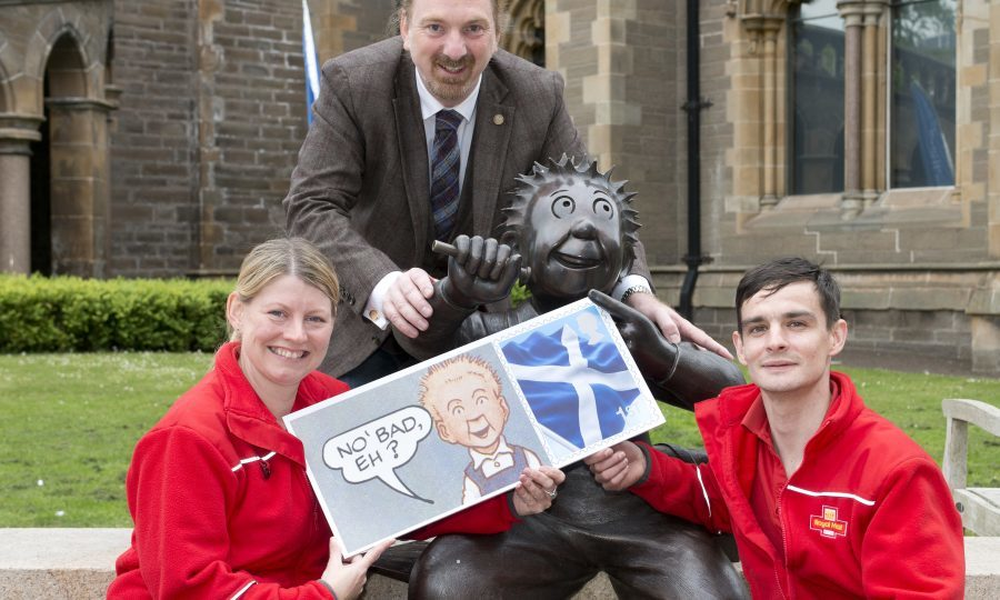 Dundee West MP Chris Law helps launch the stamps