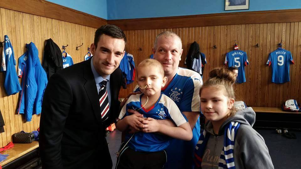 Jake met his Ibrox heroes