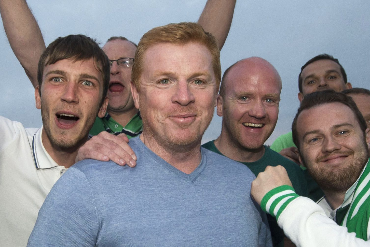 Hibs fans welcome Neil Lennon (SNS Group / Bill Murray)