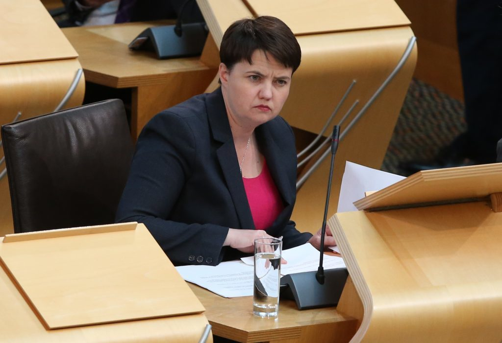 Scottish Conservative leader Ruth Davidson (Andrew Milligan/PA Wire)