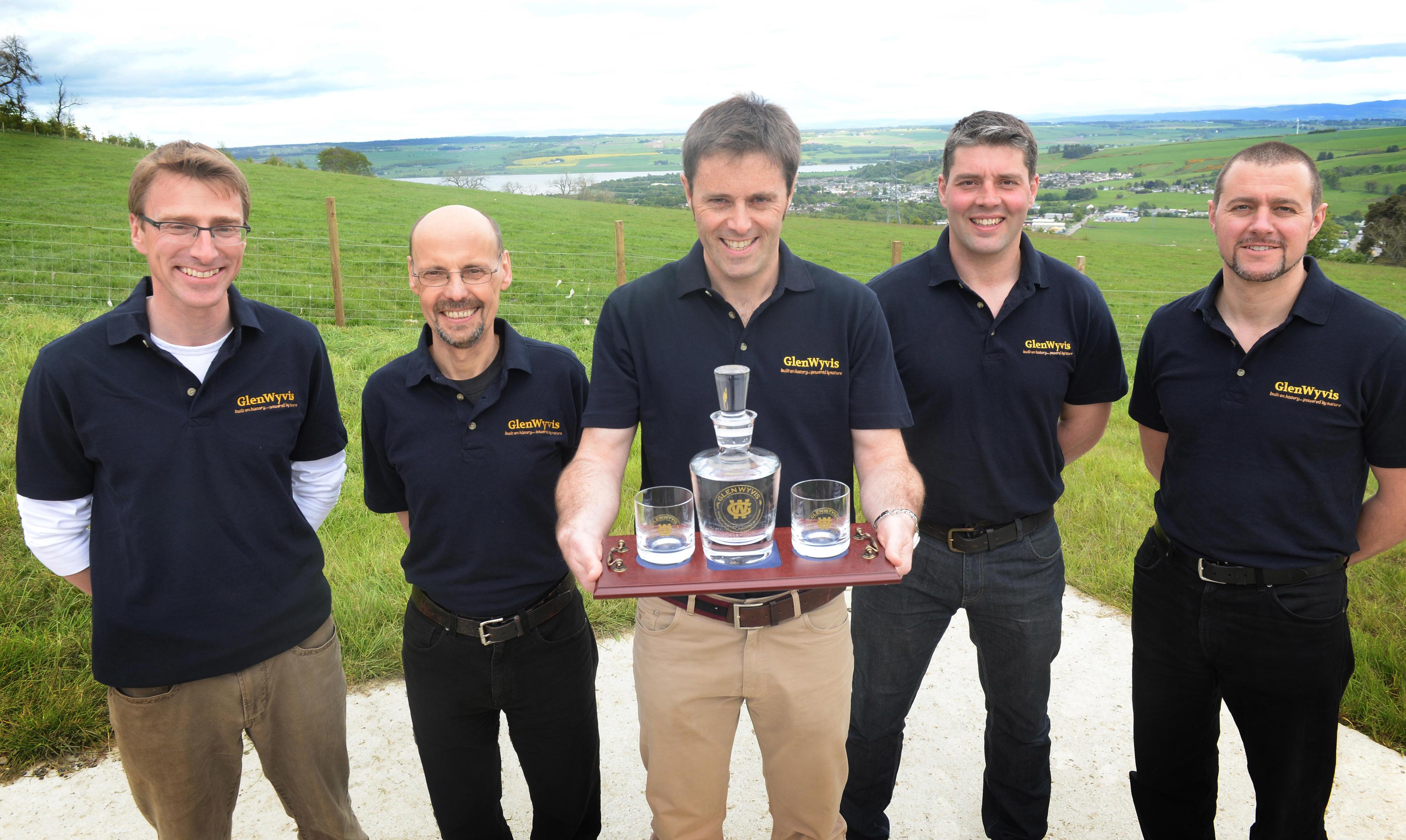 GlenWyvis Community Distillery directors: Left to right: Richard Lockett, Stuart Nickerson, John Fraser McKenzie, James Cameron, William Reynolds