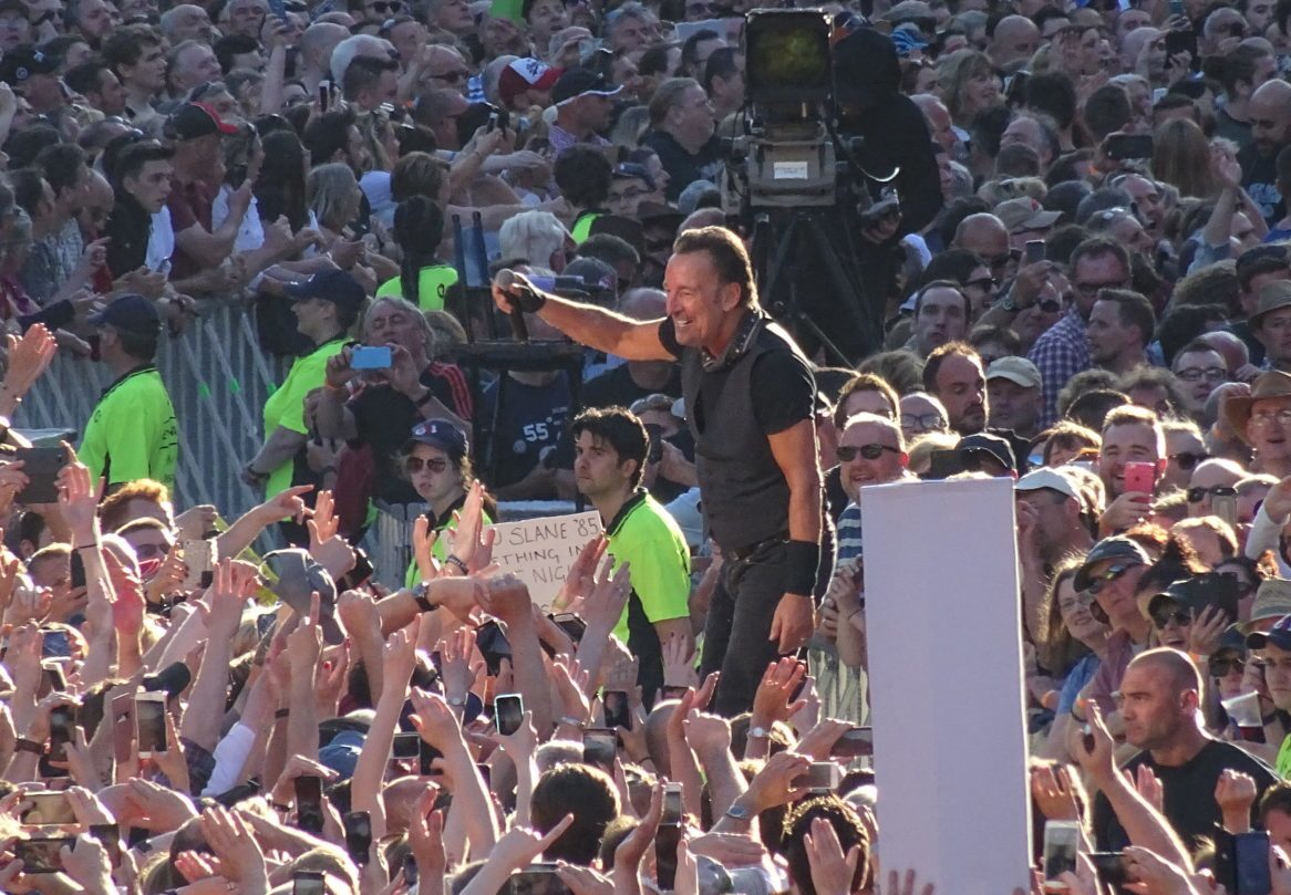 Springsteen in the crowd