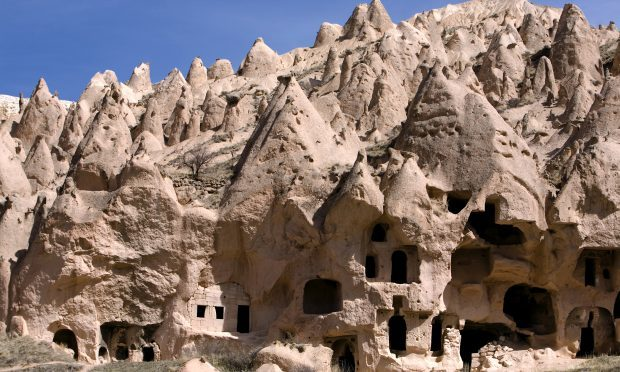 Ancient cavetown near Goreme, Cappadocia, Turkey (Getty Images/iStock)