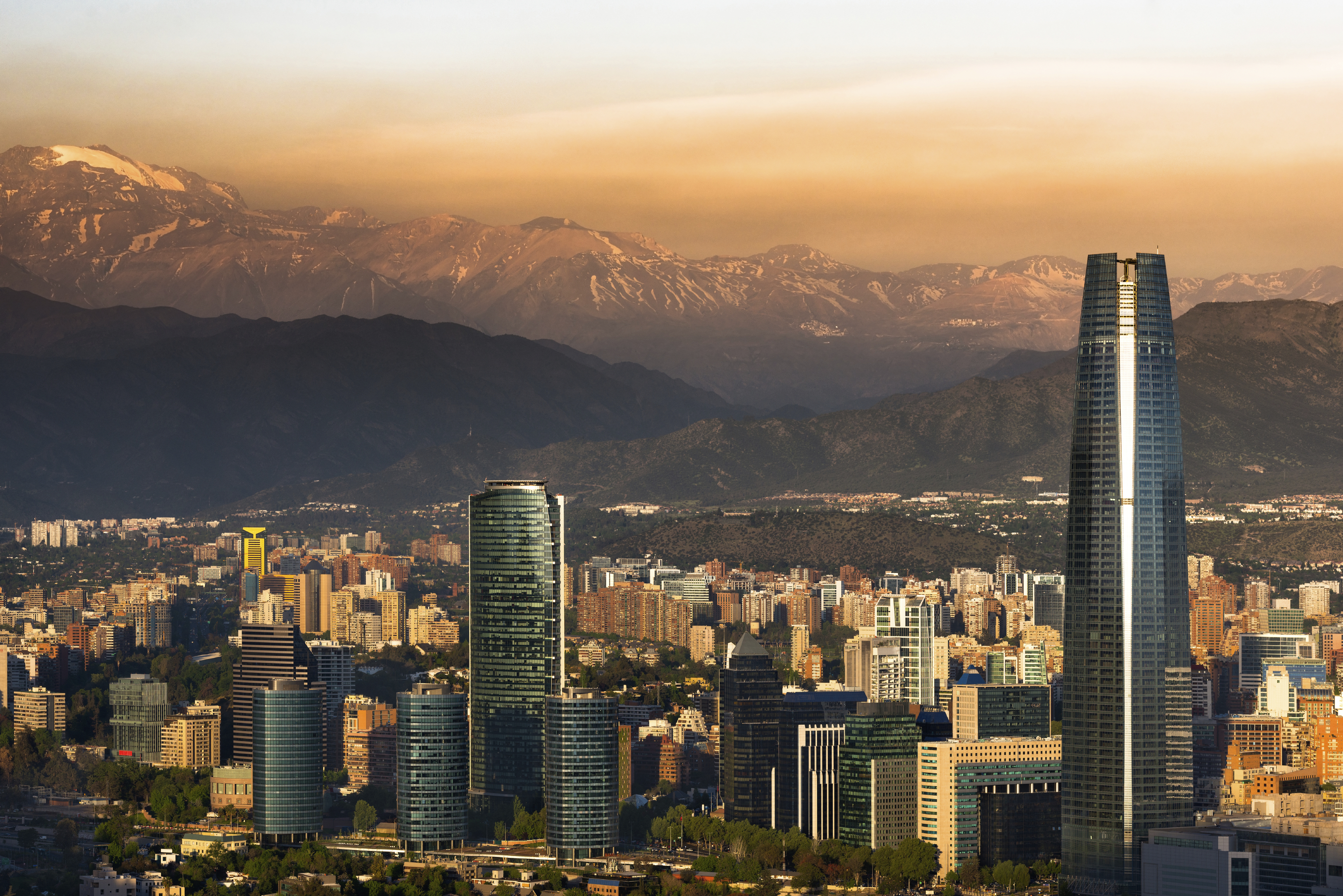 Santiago de Chile with Los Andes mountain range in the background (Getty Images)