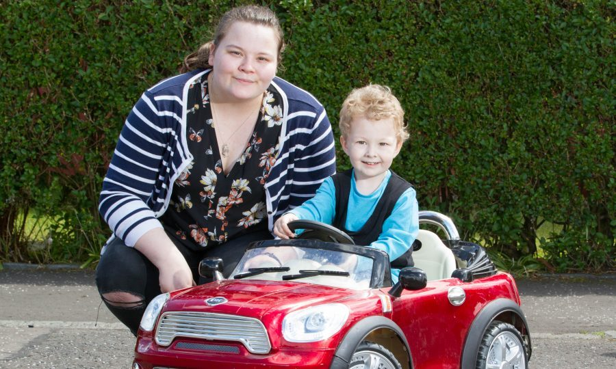 Kimberley Wiggins was given antibiotics too late during her pregnancy with her child Frank (Chris Austin / DC Thomson)