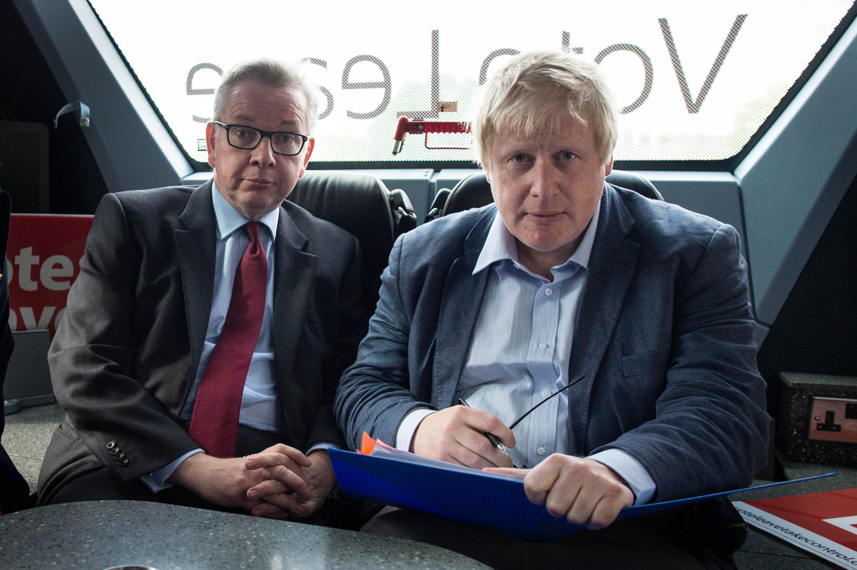 Michael Gove and Boris Johnson (right) (Stefan Rousseau/PA Wire)