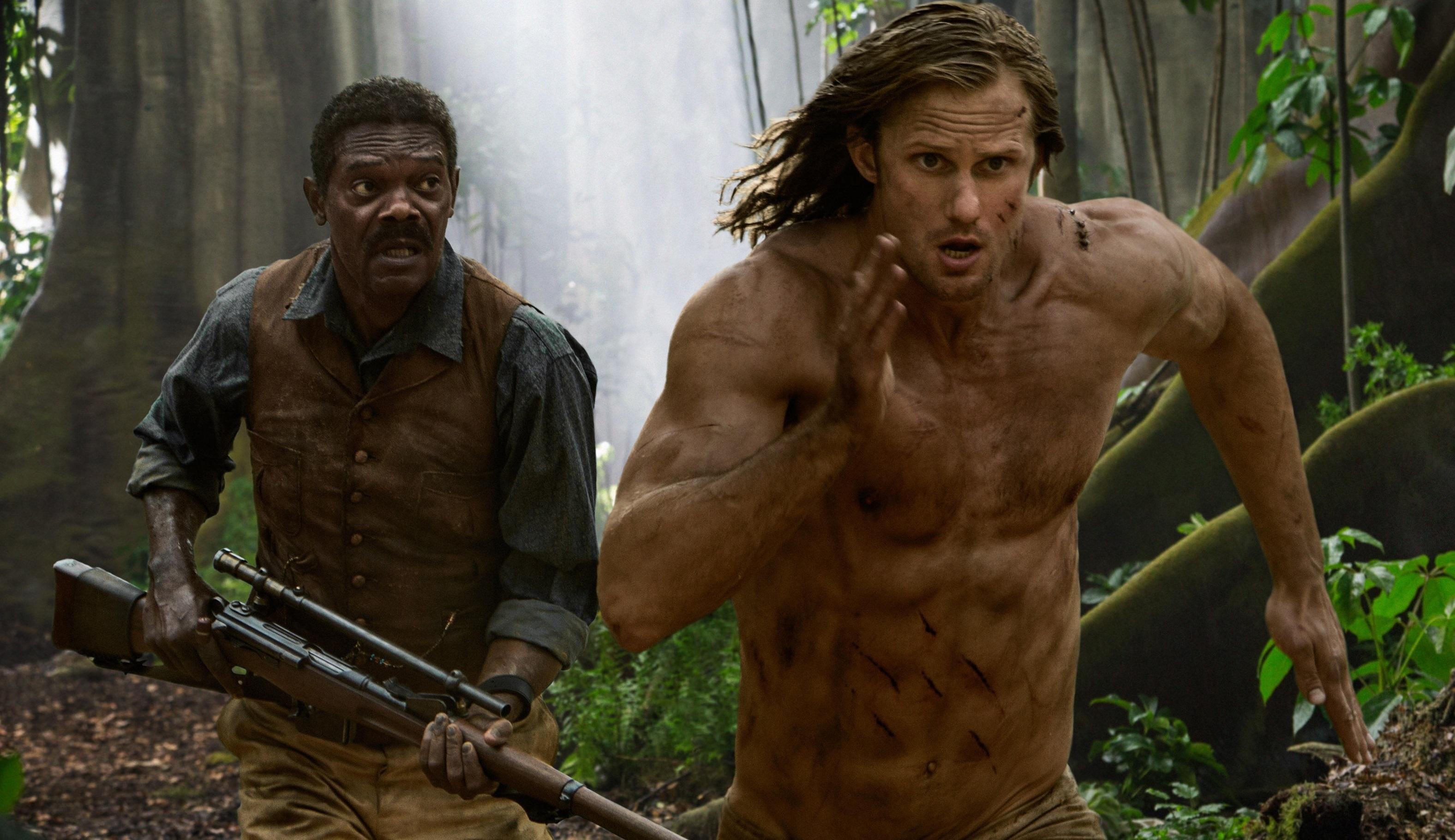 Samuel L Jackson and Alexander Skarsgard in the new Tarzan film (PA)