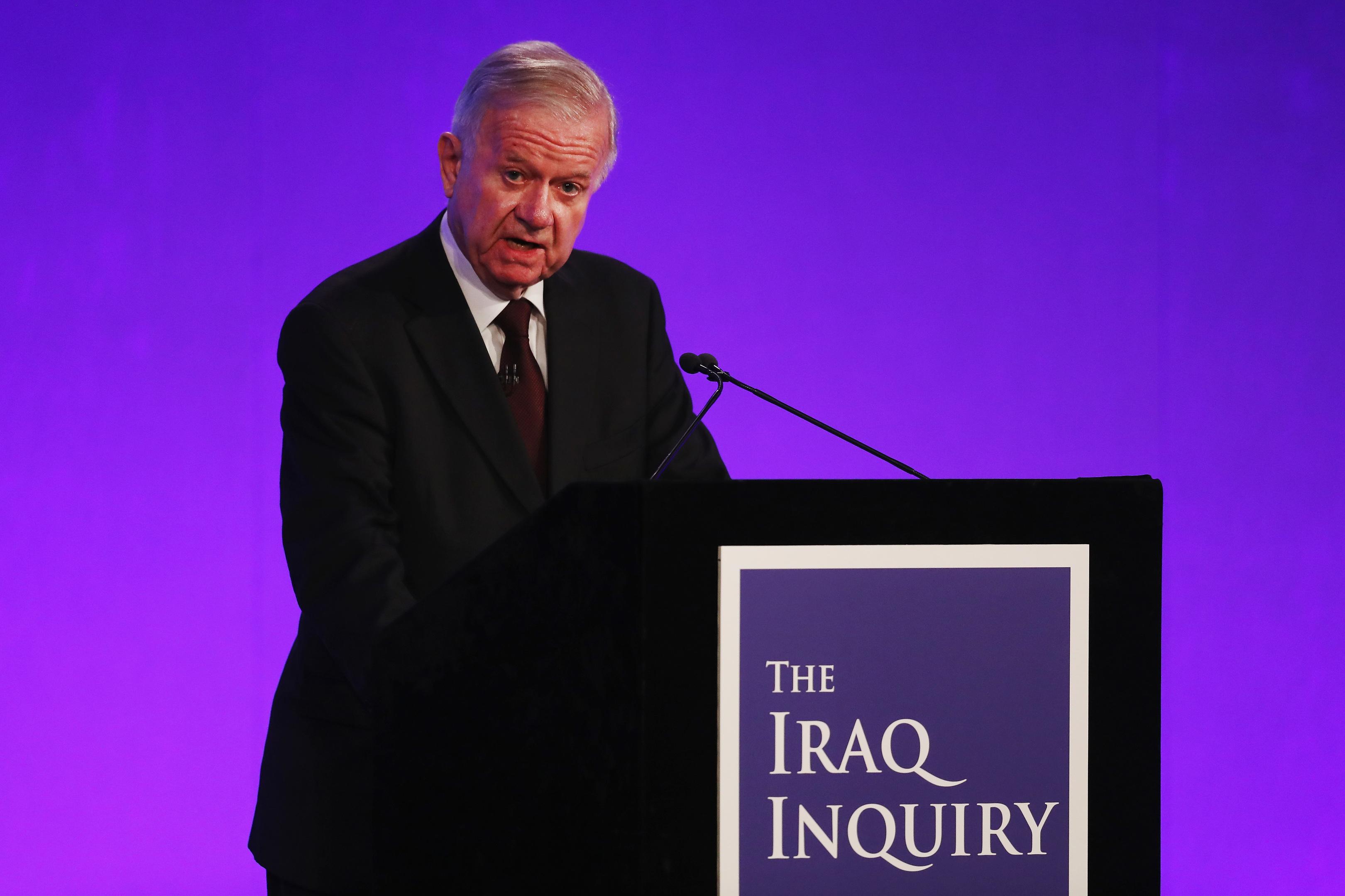 Sir John Chilcot presents the Iraq Inquiry Report (Dan Kitwood/Getty Images)