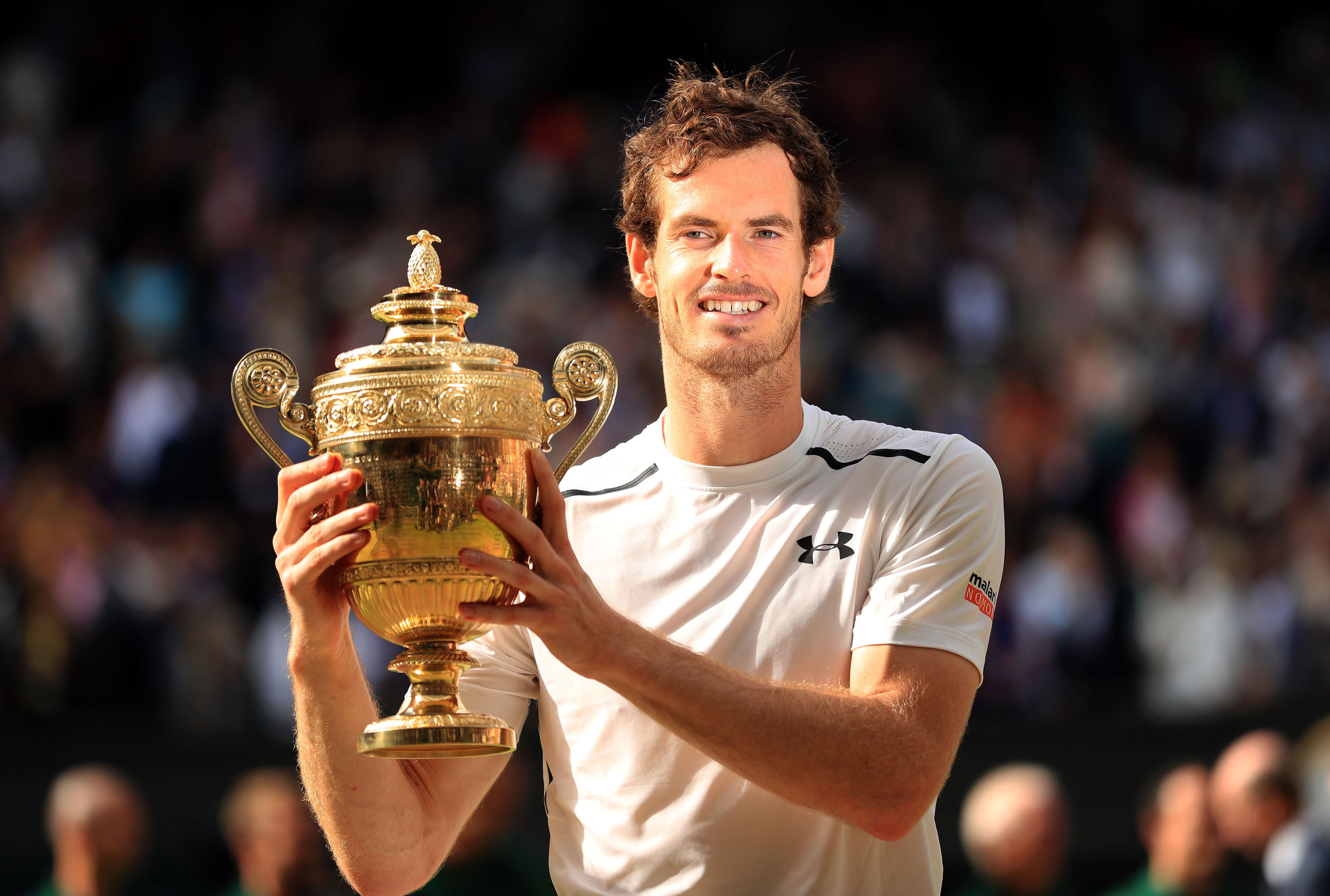 Andy Murray with the trophy (Adam Davy/PA Wire)