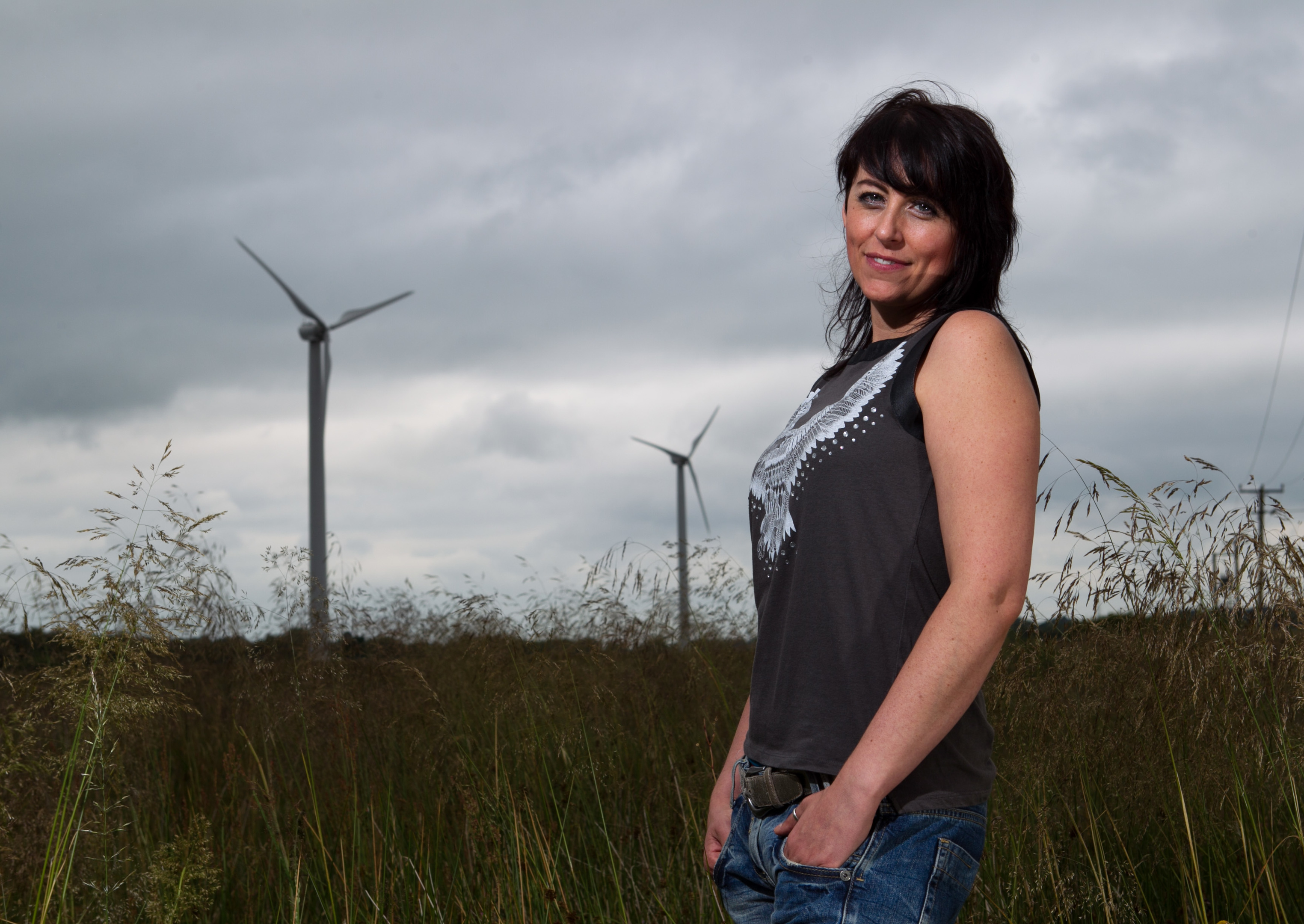 Alison Prior, who had a fear of wind turbines (Andrew Cawley / DC Thomson)