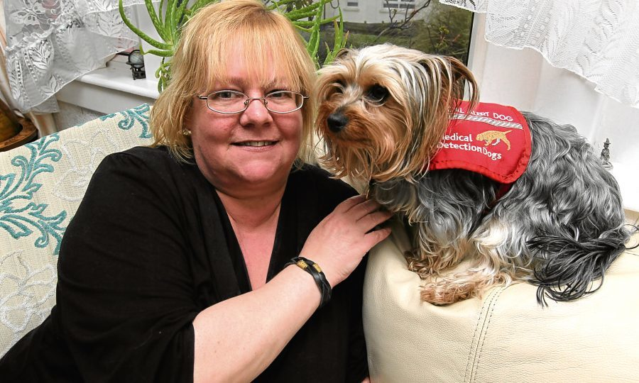 Yvonne and dog Milly (Chris Austin / DC Thomson)