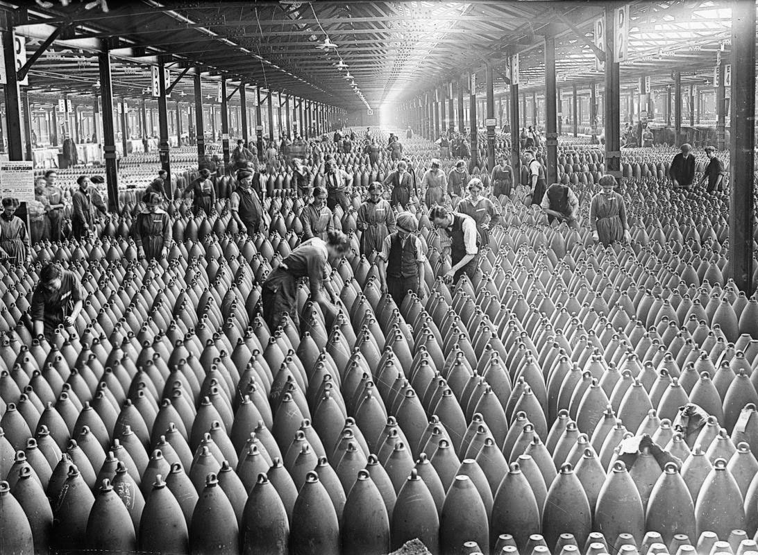 A munitions factory in WWI