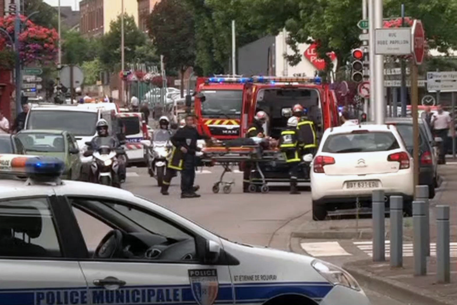 French hostage situation aftermath (BFM via AP)