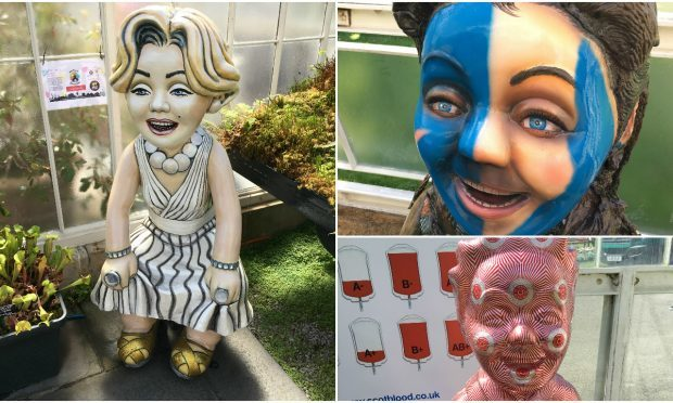 Oor Wullie Statues, Botanic Gardens (Ross Crae / DC Thomson)