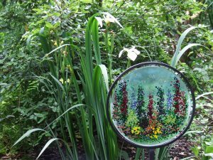 One of the Herbaceous Border Glass Trio by Jane Drysdale