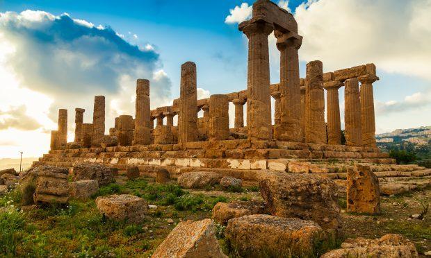 Temple of Juno - ancient Greek landmark in the Valle dei Templi outside Agrigento, Sicily (Getty)