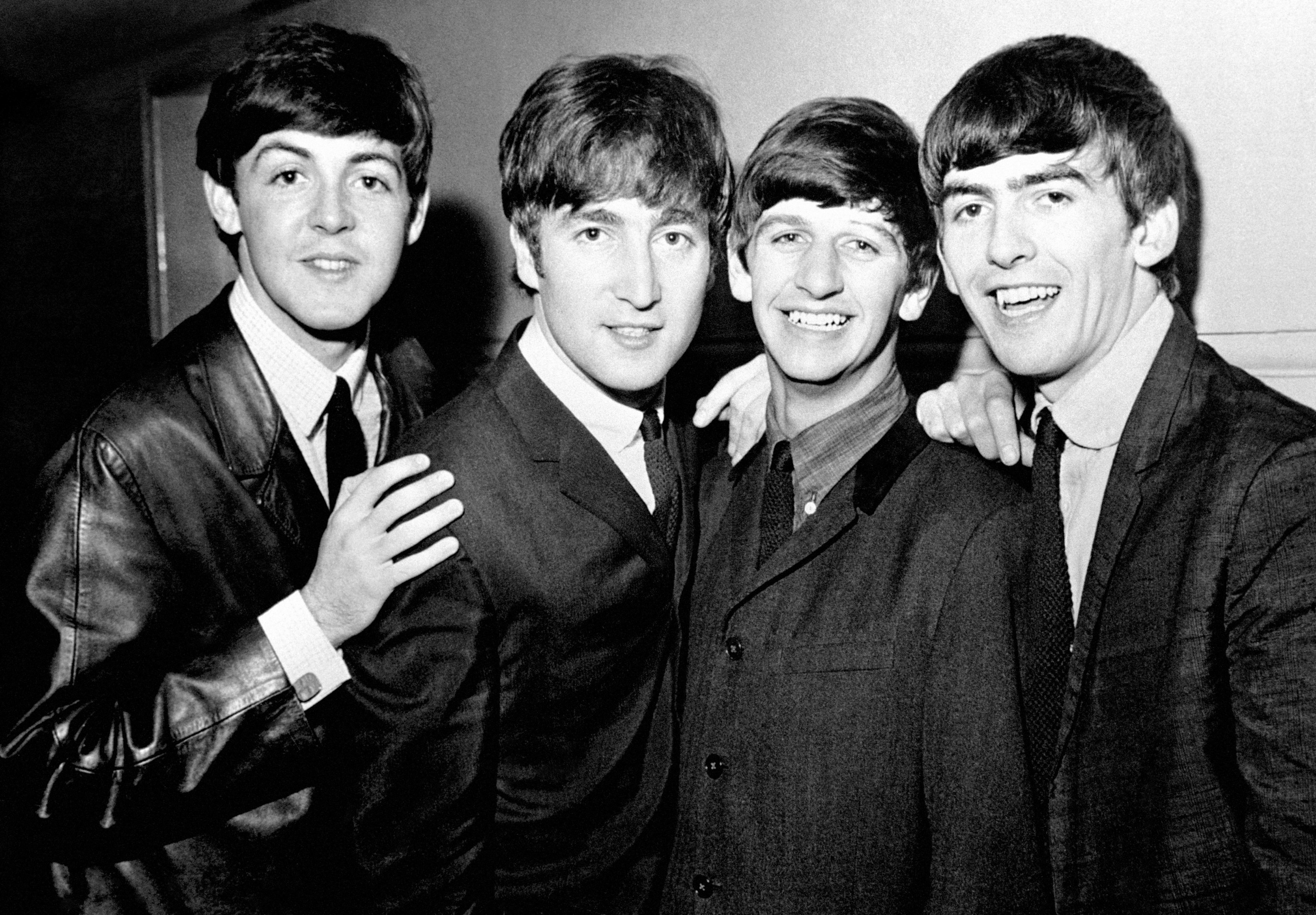 The Beatles pop group, left to right, Paul McCartney, John Lennon, Ringo Starr and George Harrison (PA)