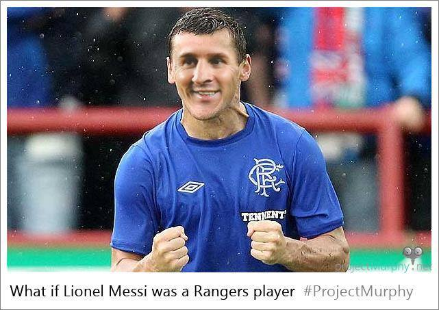 Lionel Messi as a Rangers player