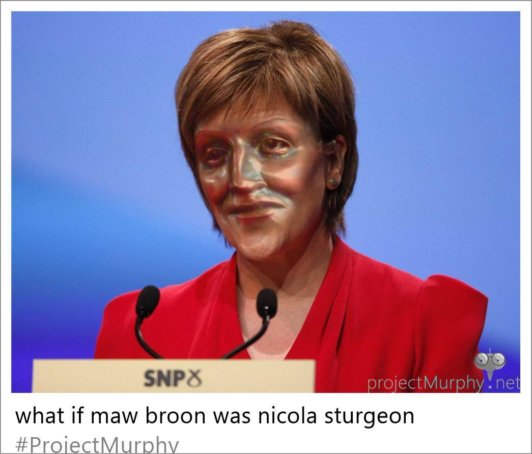 Maw Broon as Nicola Sturgeon