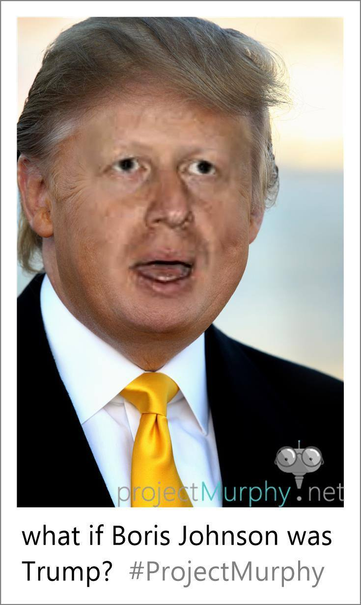 Boris Johnson as Donald Trump