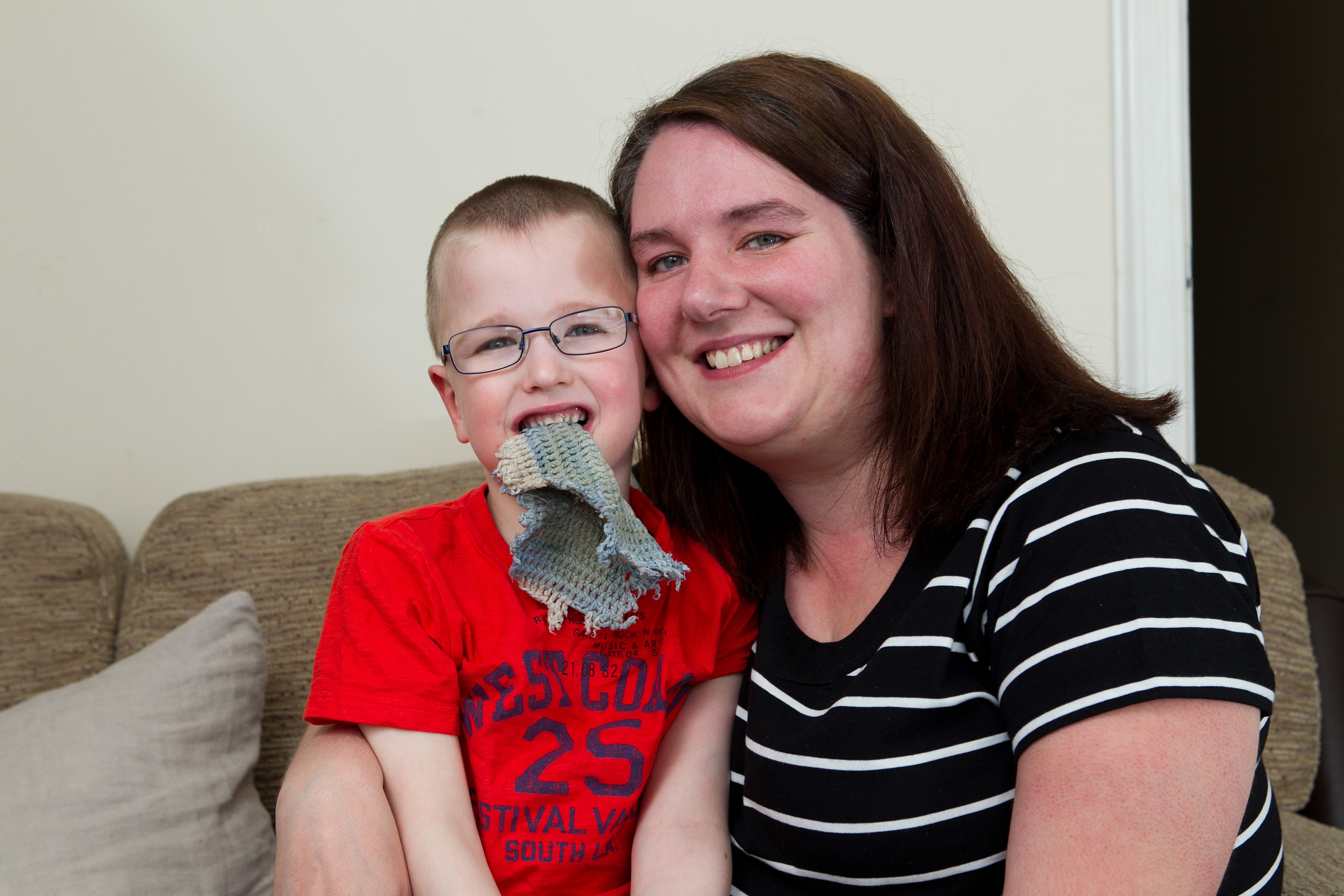 James McCusker (5), and his mother Jen (Andrew Cawley / DC Thomson)