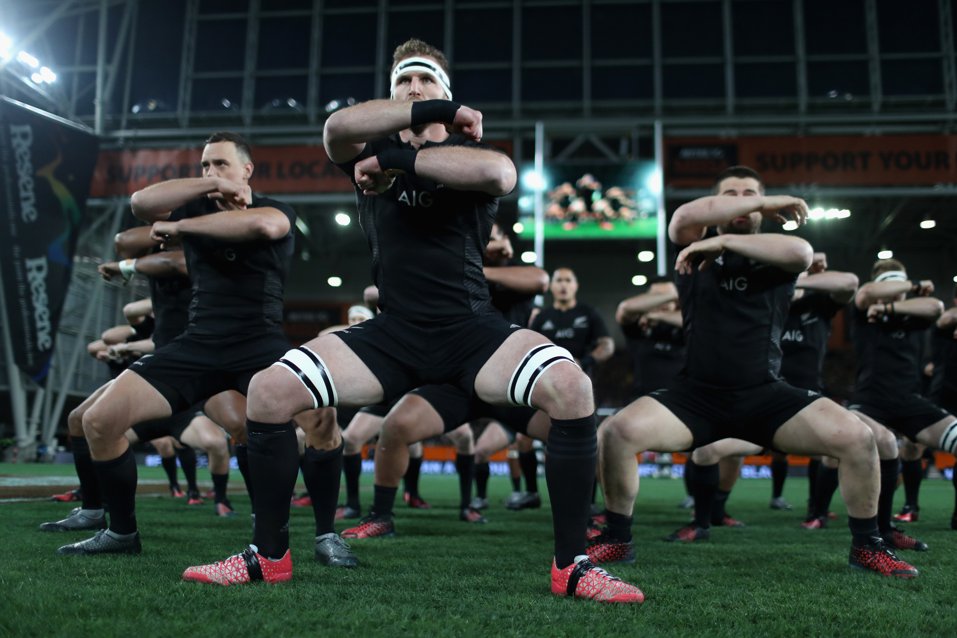 The All Blacks perform the haka (Phil Walter/Getty Images)