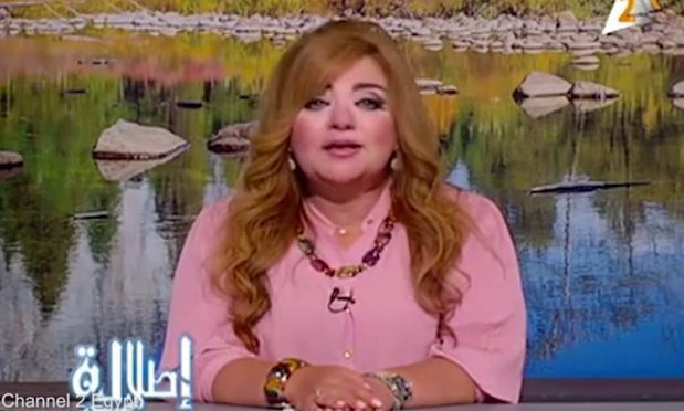 Veteran broadcaster Khadiga Khattab, one of the eight presenters who face the ultimatum (YouTube)