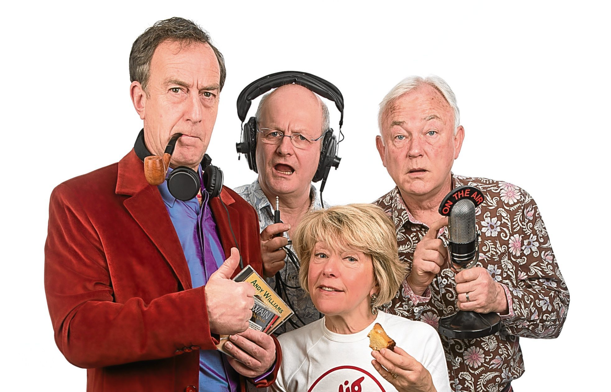 Angus Deayton and the Radio Active cast (Steve Ullathorne)