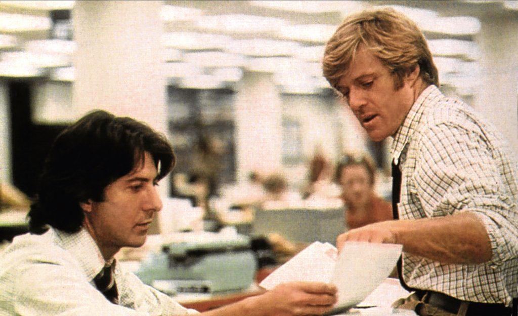 Redford alongside Dustin Hoffman (Allstar/WARNER BROS)