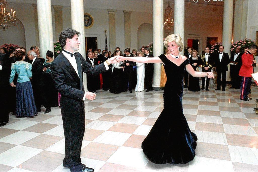 John Travolta with Diana