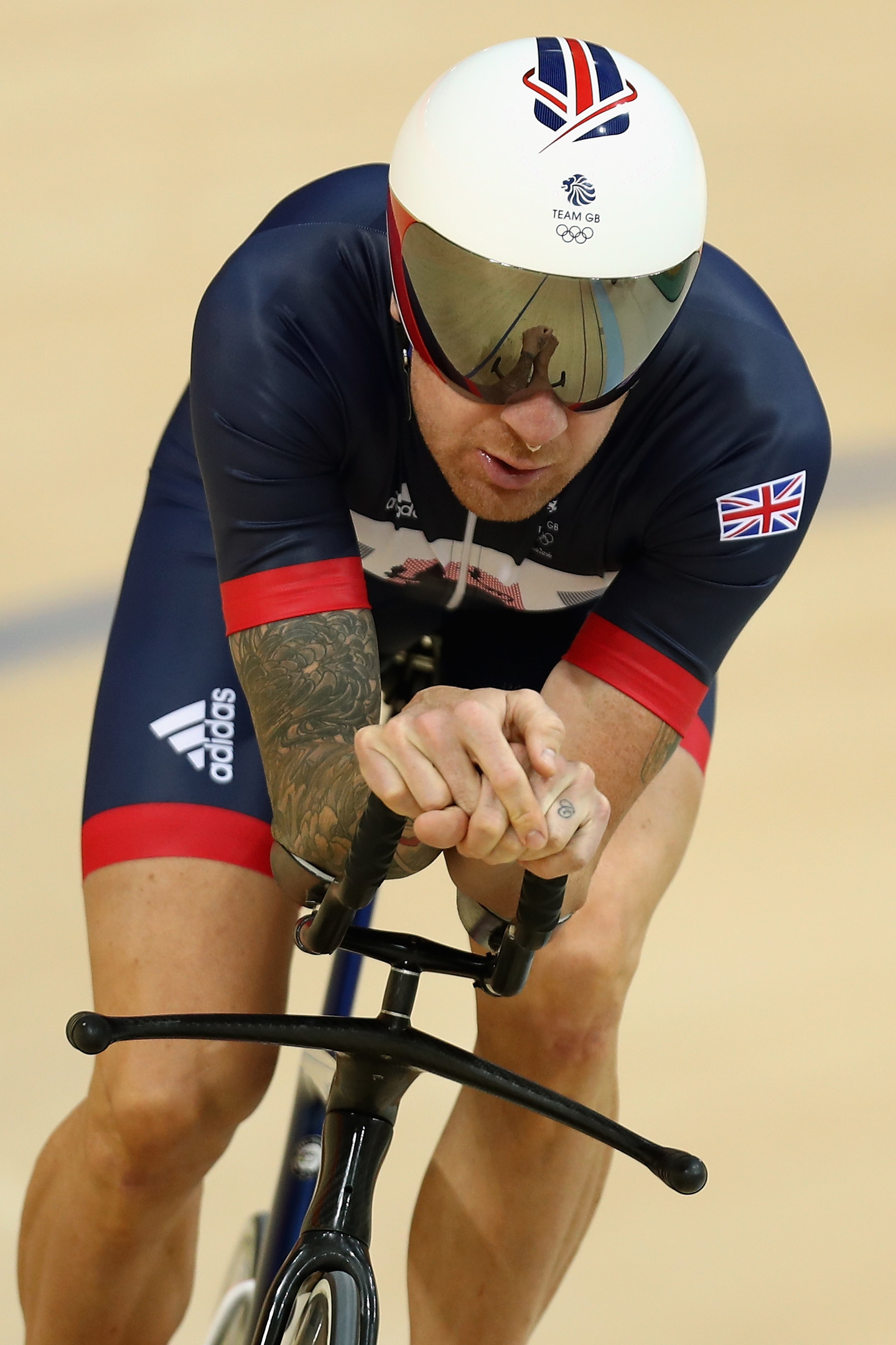 Sir Bradley Wiggins of Great Britain and Team GB in action during training at the Rio Olympic Velodrome (Photo by Bryn Lennon/Getty Images)