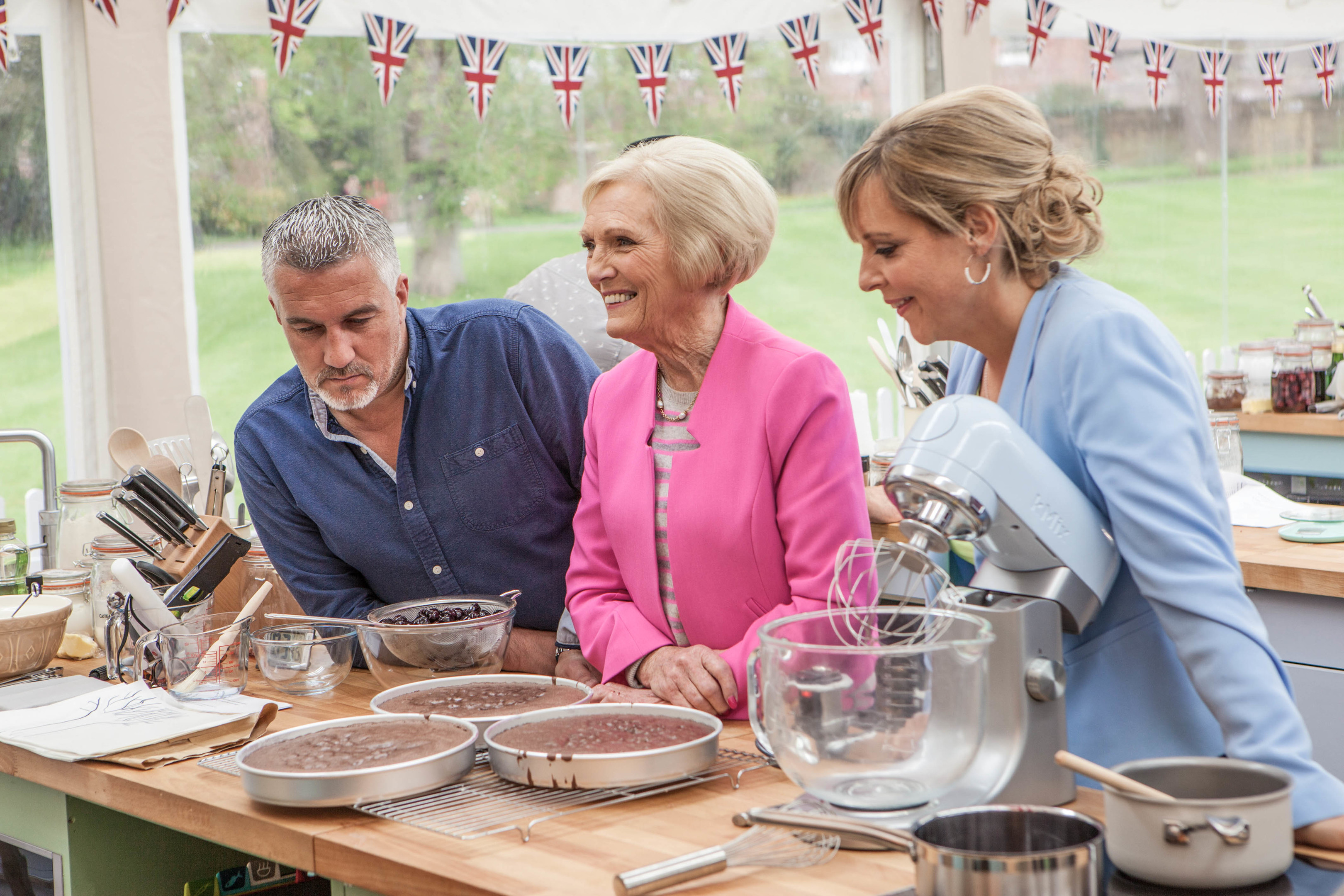 Paul Hollywood, Mary Berry, Mel Giedroyc (Love Productions/Mark Bourdillon)
