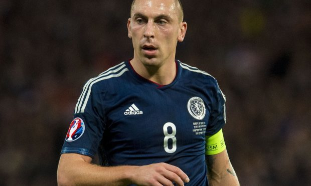 Scott Brown in action for Scotland