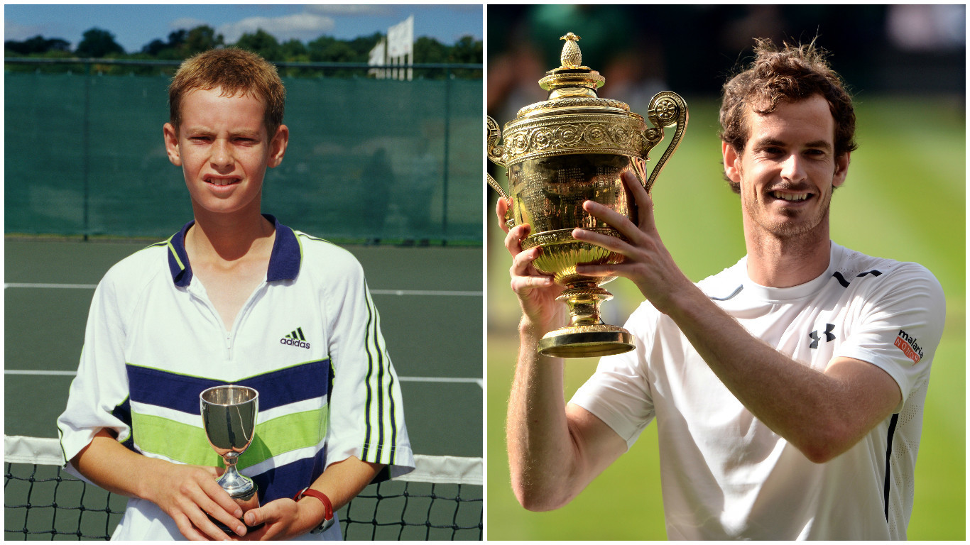Andy Murray then and now (PA Wire & Getty Images)