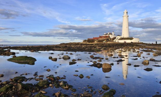 St Mary's lighthouse during the day at Whitley Bay in Northumberland (Getty)