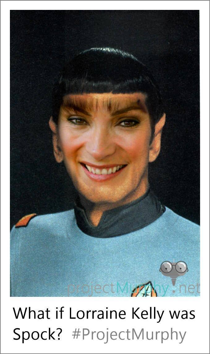 Lorraine Kelly as Spock