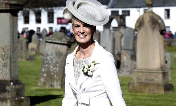 Judy Murray's mother of the bride outfit (Alex Huckle/Getty Images)