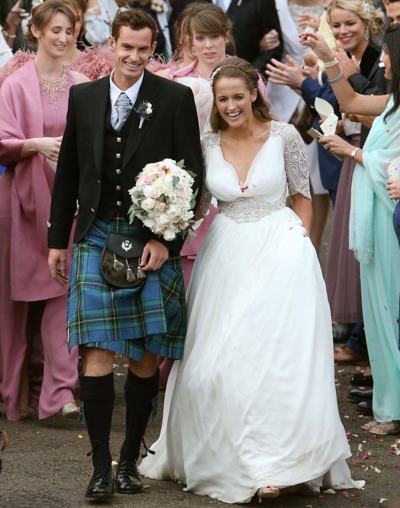 Andys wedding to Kim Sears at Dunblane Cathedral (Andrew Milligan/PA Wire)