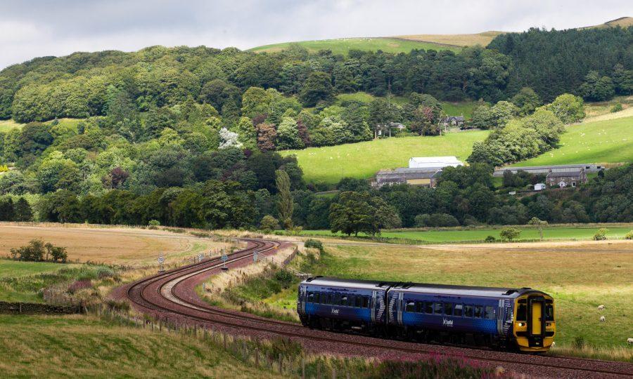 Borders railway line near Galashiels (Andrew Cawley / DC Thomson)