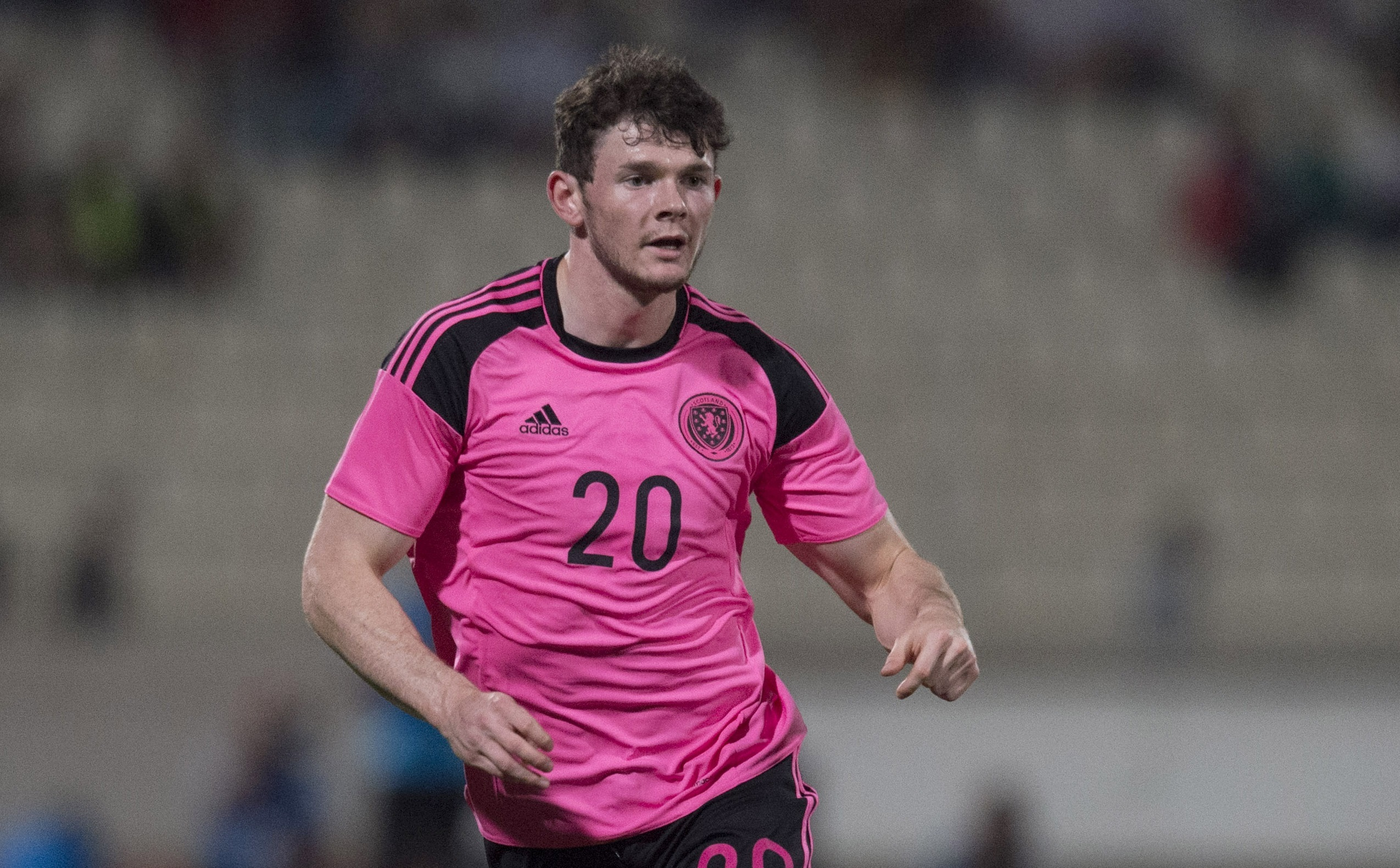Oliver Burke in action for Scotland (SNS Group)