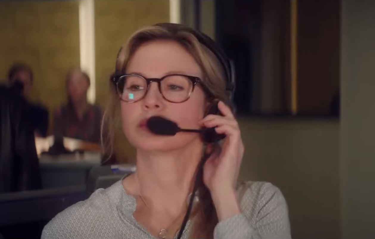 Renee Zellweger working as a TV producer in the movie Bridget Jones's Baby