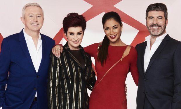 X Factor judges Louis Walsh, Sharon Osbourne, Nicole Scherzinger and Simon Cowell (Thames / Syco Entertainment)
